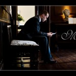 Bestman preparing speech at Hotel Endsleigh wedding