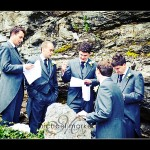 Devon wedding photography groom and ushers at Hotel Endsleigh