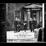 Groom and ushers at Devon wedding at Hotel Endsleigh near Tavistock