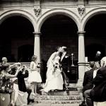 Bovey Castle Wedding photography couple kissing