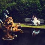 Bovey Castle Wedding photographer captures couple in gardens