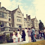 Bovey Castle Wedding couple and guests