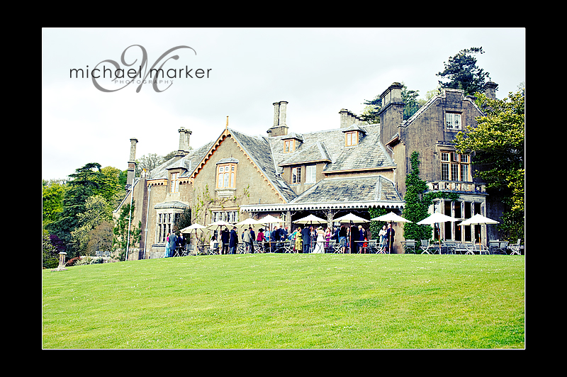 Hotel Endsleigh wedding venue from the garden
