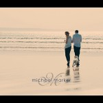 Couple engagement photography session at Saunton Sands in North Devon