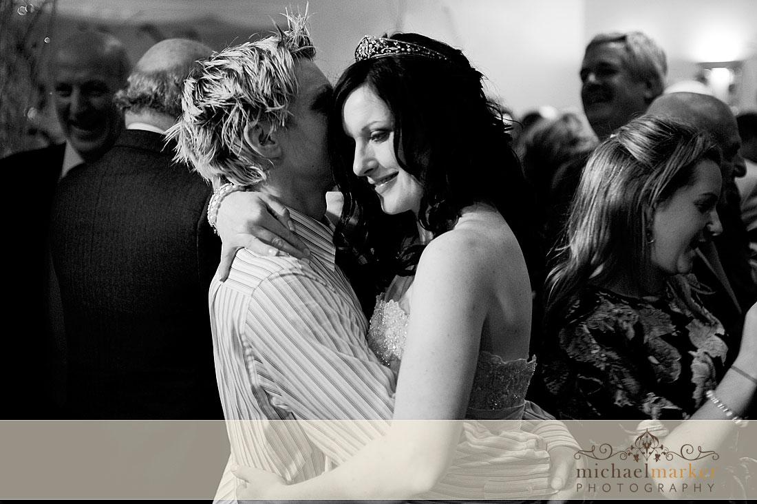 Wedding couples first dance on Exmoor Devon