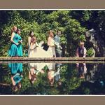 Dorset wedding photography at Abbotsbury Gardens
