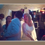 Bride dancing at Dartmouth wedding