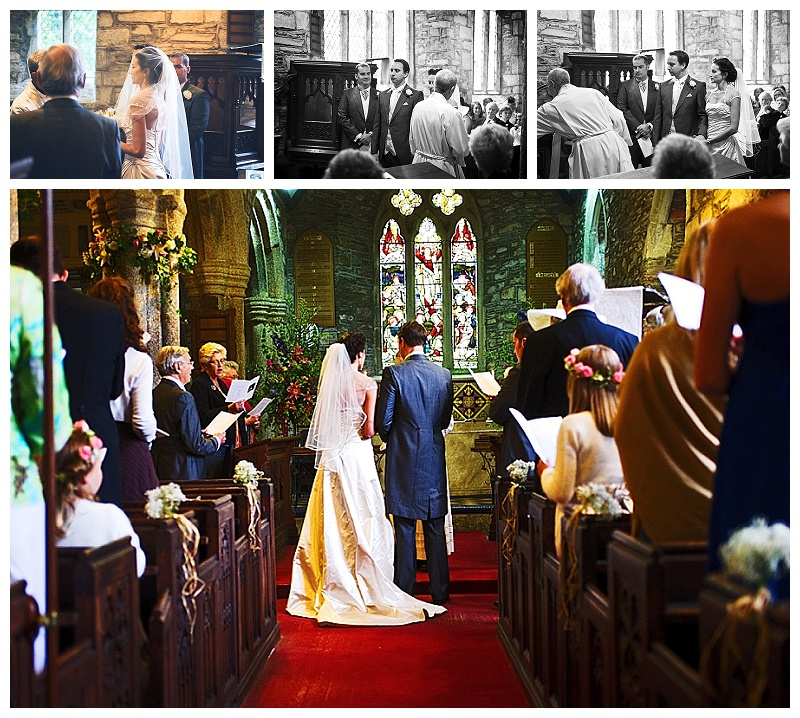 Bride and groom during Church wedding ceremony