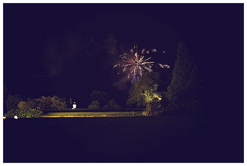 Fireworks display at Devon wedding