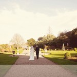Wedding couple in grounds of Mount Edgecumbe in Cornwall
