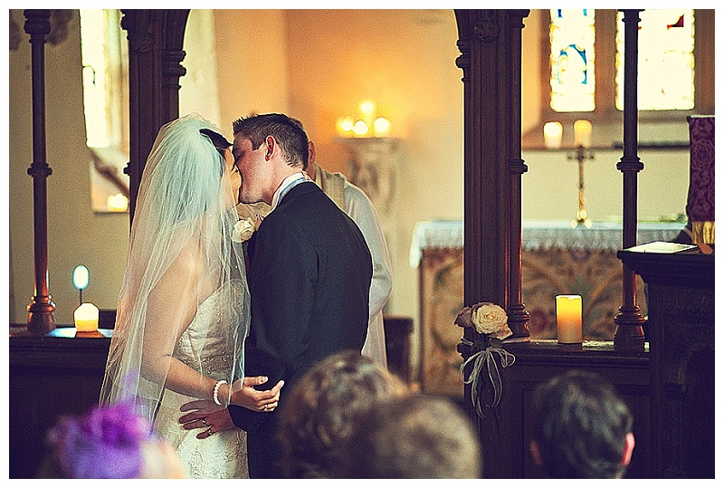 wedding ceremony in island  chapel at Orchardleigh House