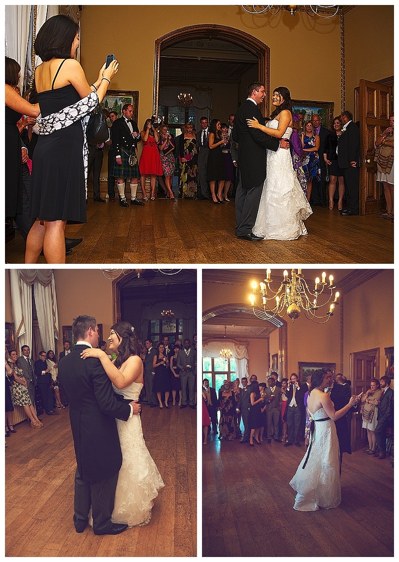 First dance at Orchardleigh House wedding