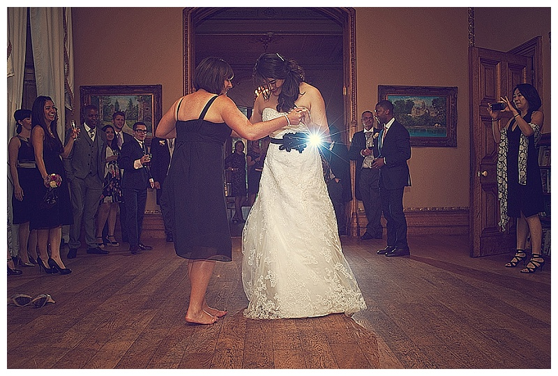 Dancing at wedding in Orchardleigh House in Somerset