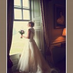 Bride at Shilstone House wedding Devon