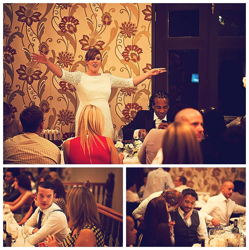 Intimate weding reception at Bristol's Goldbrick House