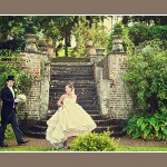 Bride & Groom at Langdon Court wedding reception