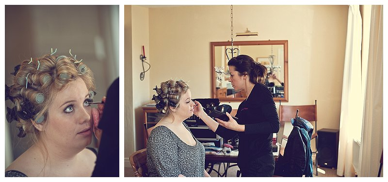 Bride getting ready Kingskerswell in devon