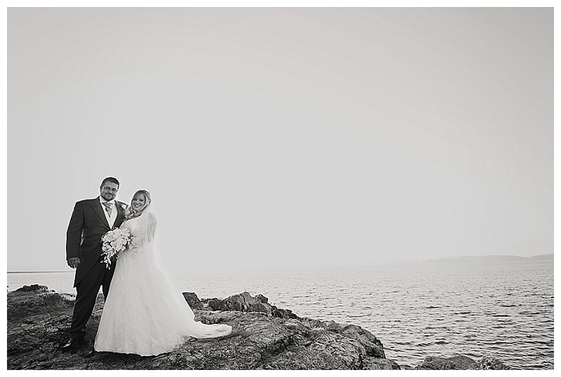 Wedding couple photographed at Torbay wedding