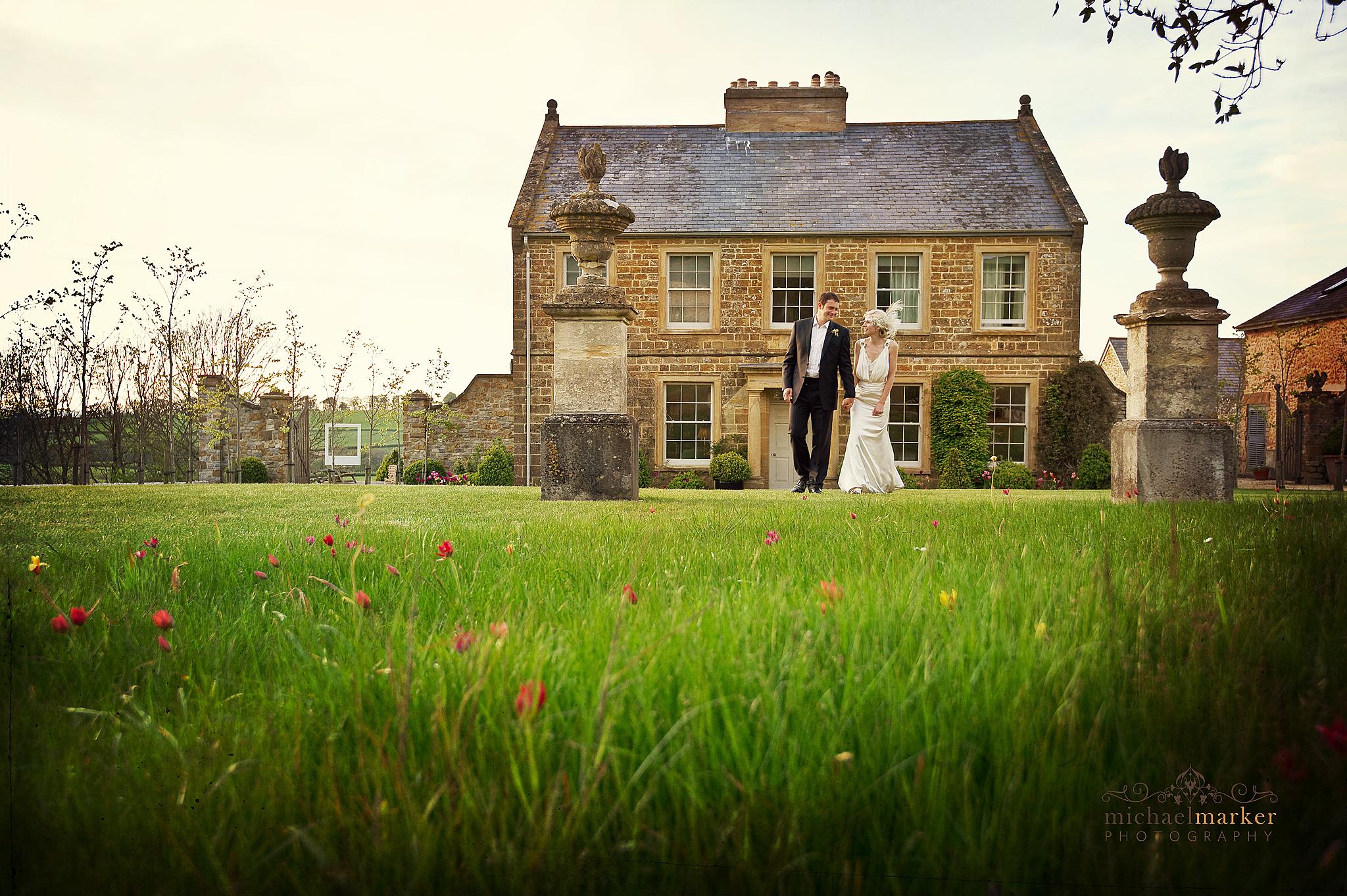 Dorset wedding couple at Axnoller