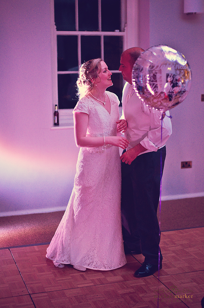 Bride and groom on the dancefloor at Falmouth wedding