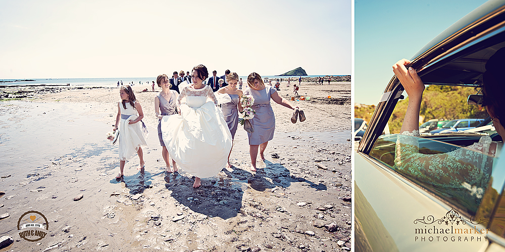 Bride-on-Wenbury-beach
