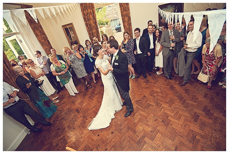 First dance at Hallsannery wedding in Devon