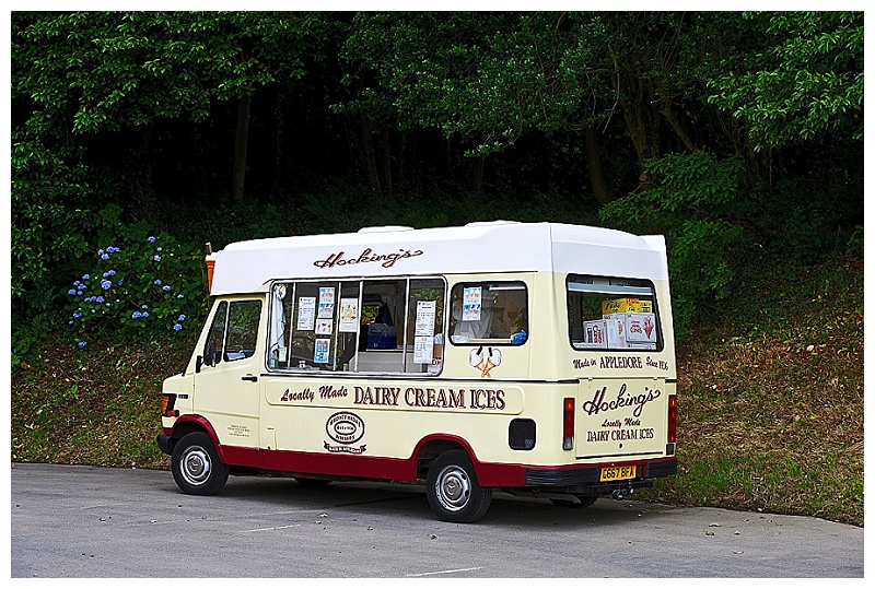 Devon ice cream van at Bideford wedding