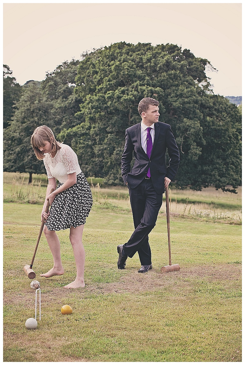 Croquet at North Devon wedding