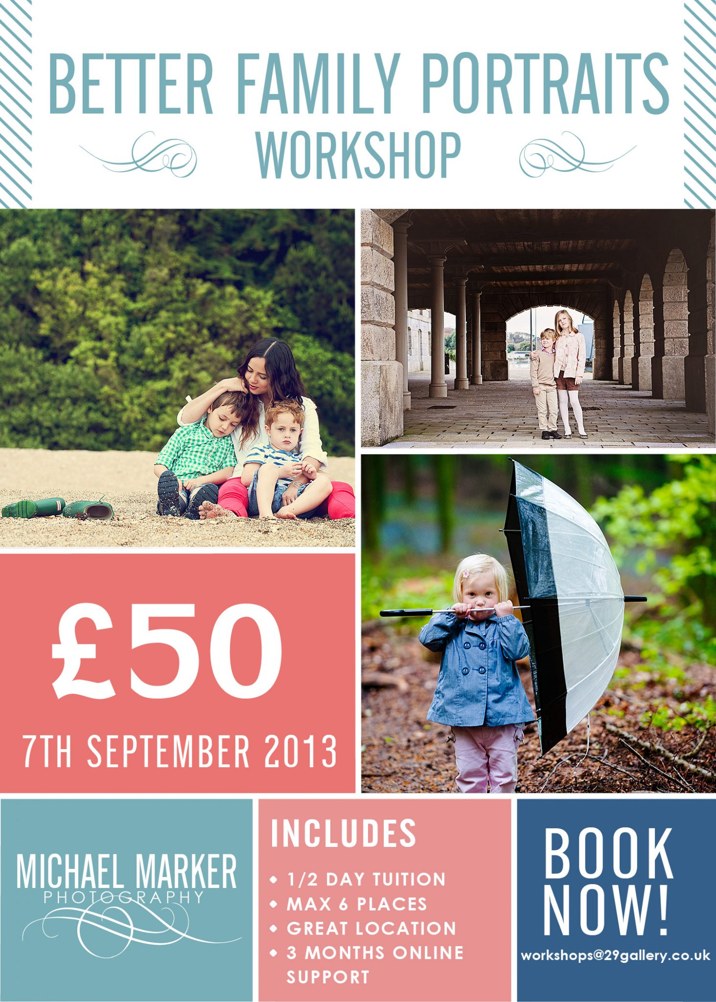 Better Portraits photography workshop poster