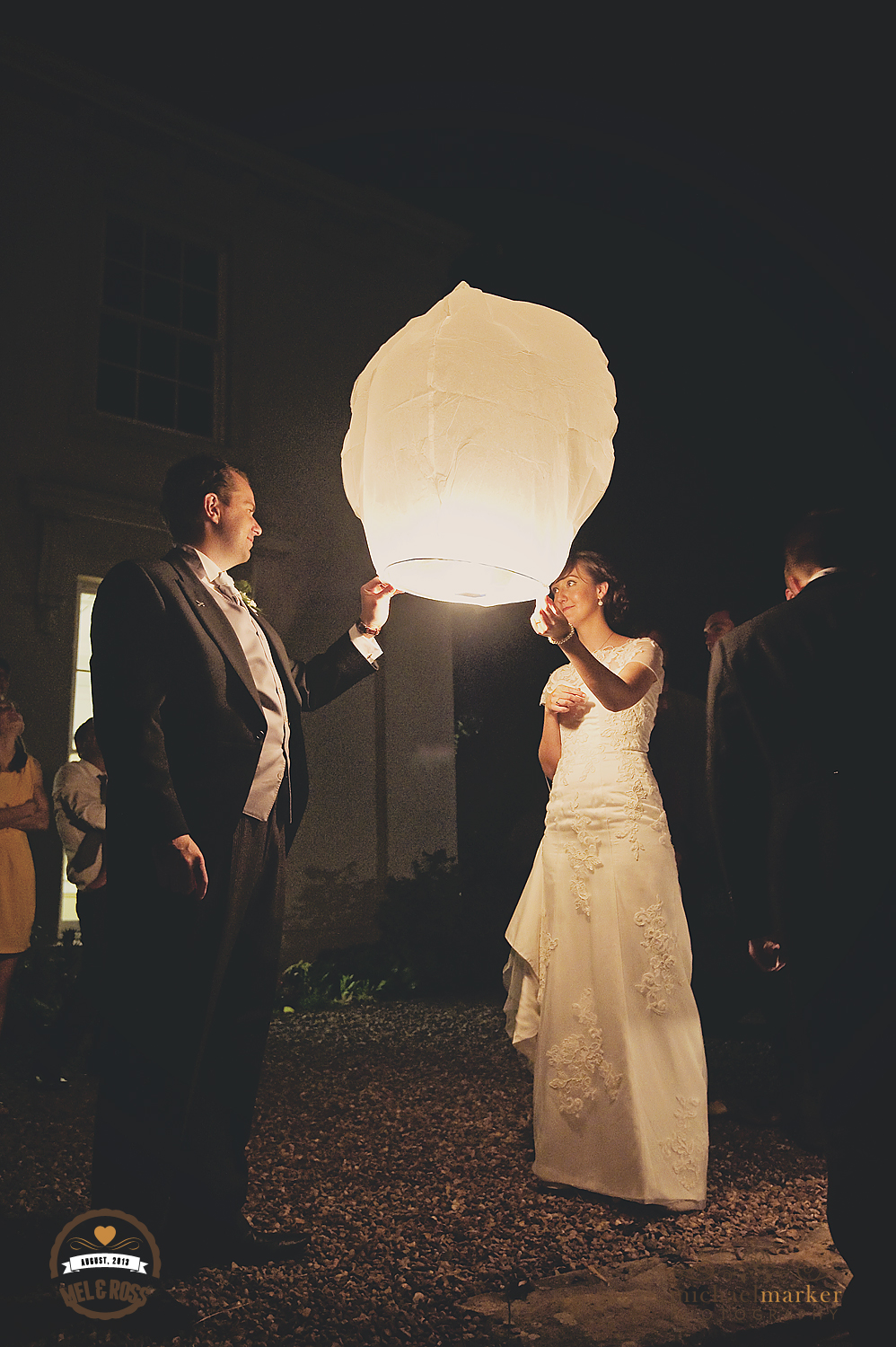 North Devon wedding chinese lanterns