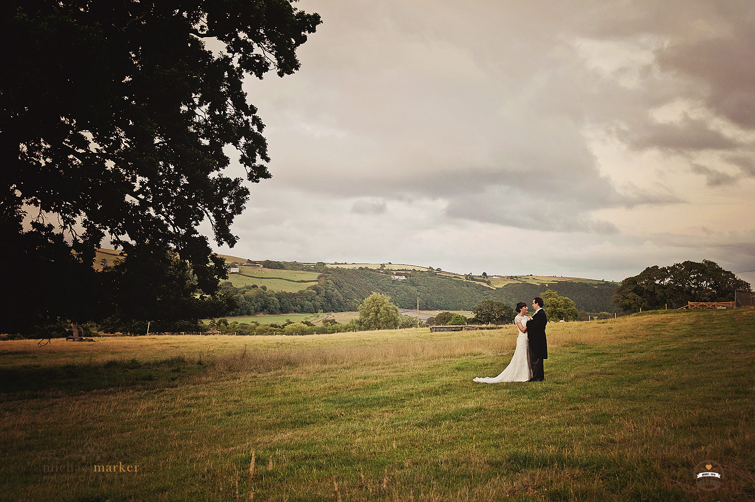 Wedding couple in Devon