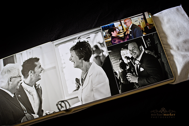 Pages from luxury wedding photography album