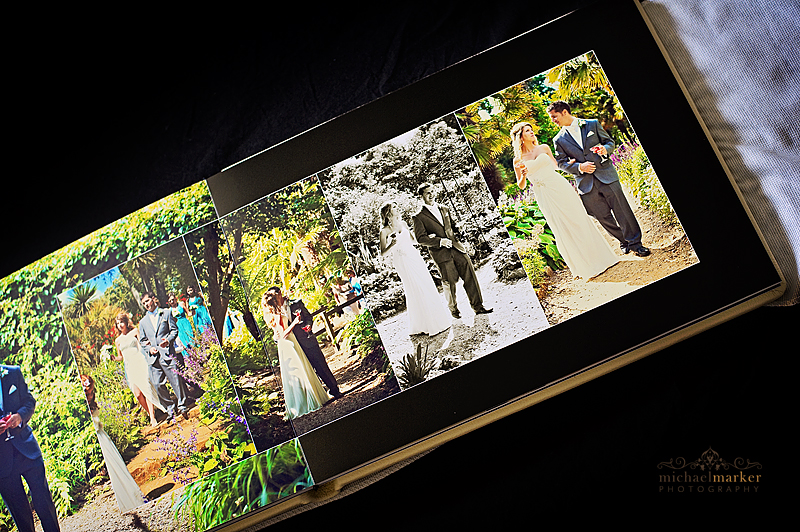 Professional weddign album design by Dorset wedding photographer