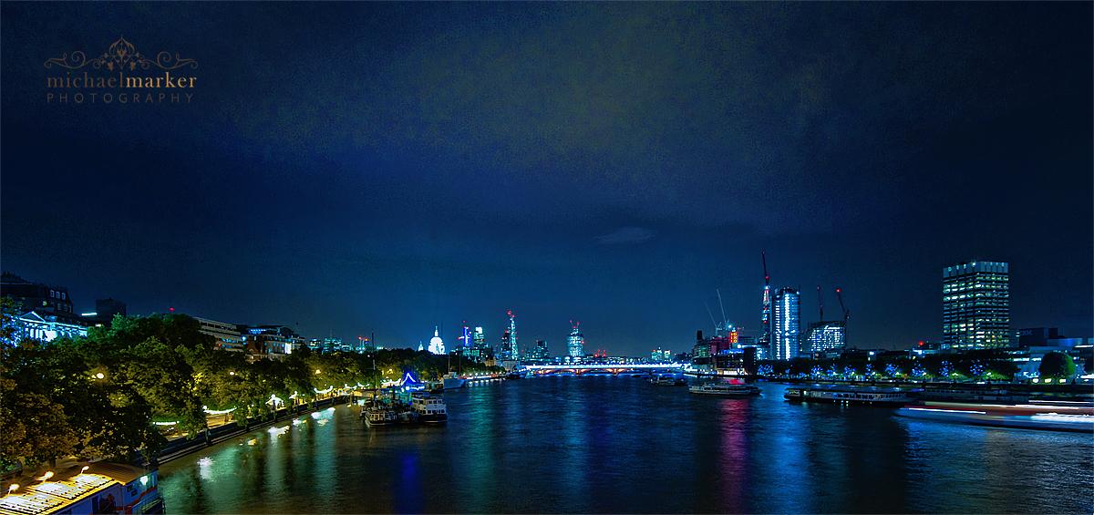 London Evening skyline