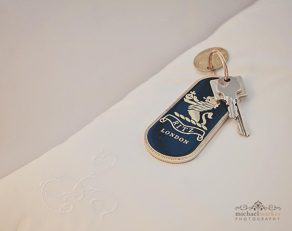 Luxury London wedding Ritz key