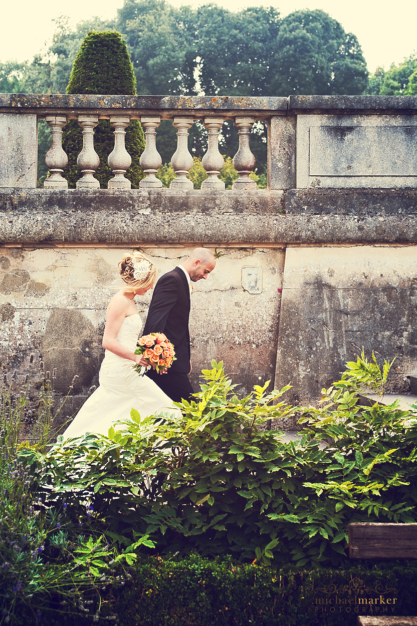 Torquay wedding couple at Oldway Mansion