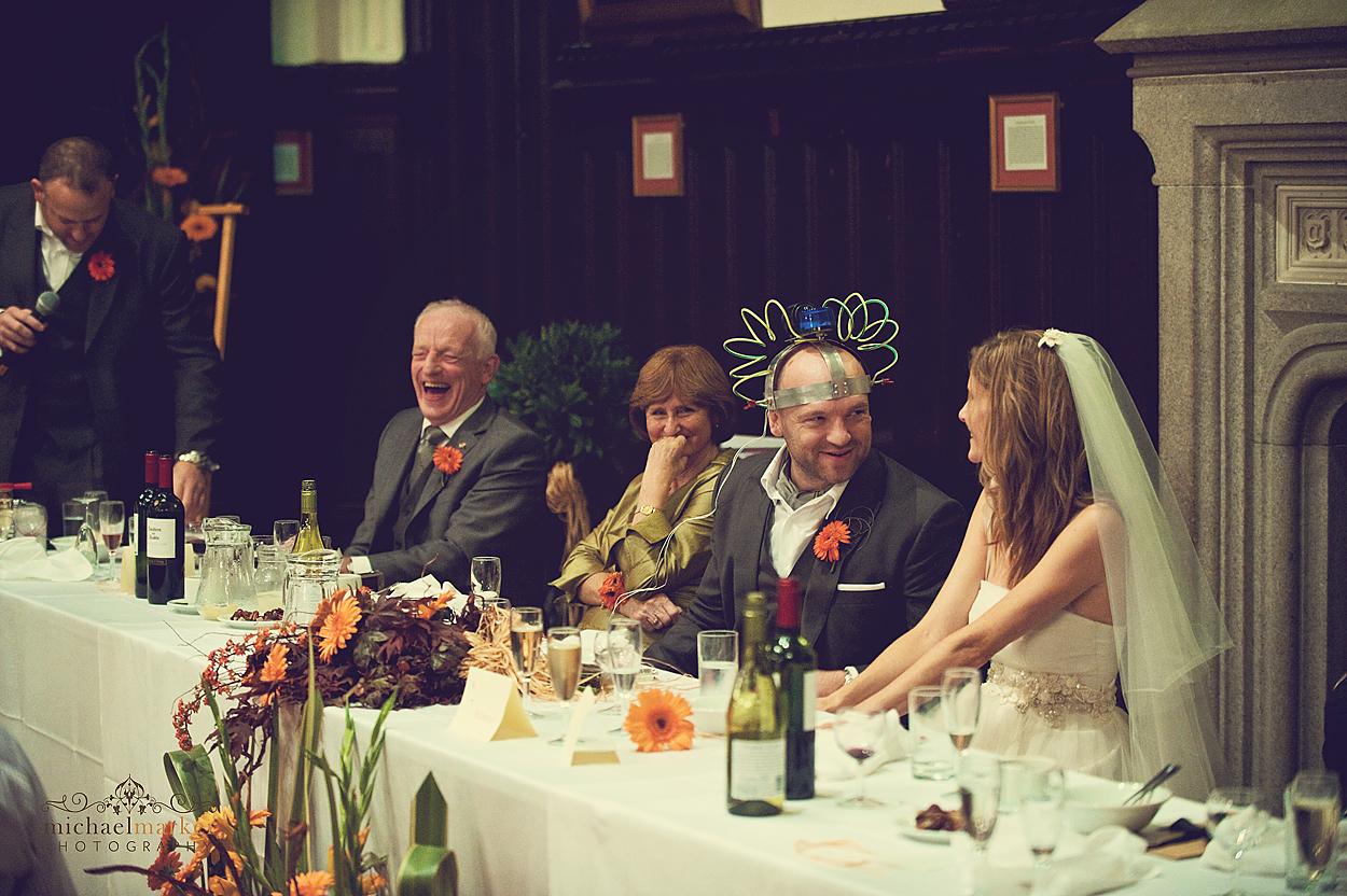 Funny wedding speeche at Dartmoor wedding in Devon