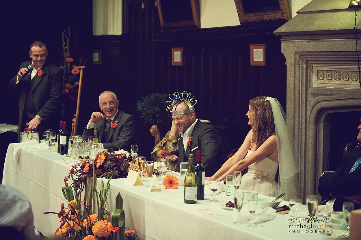 Photography of Devon wedding speech on Dartmoor