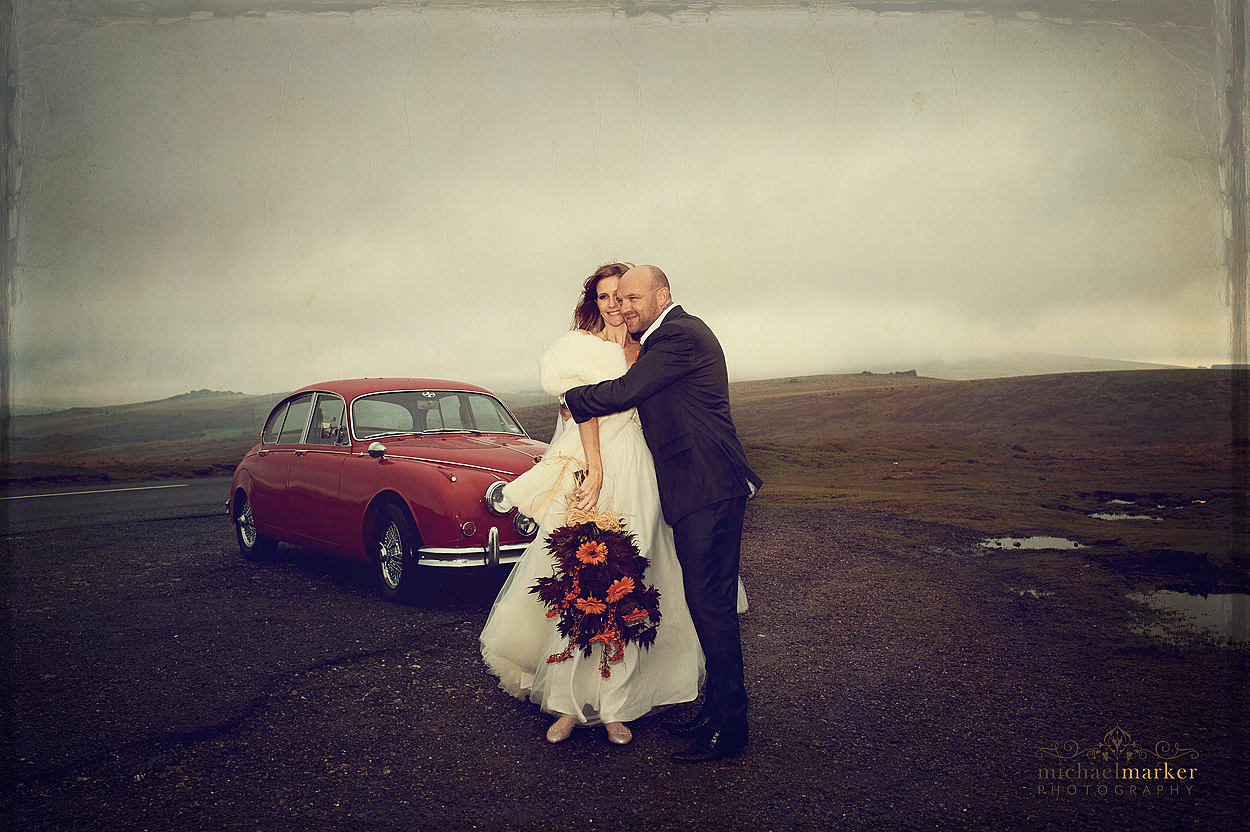 Couple from Devon wedding photographed on Dartmoor