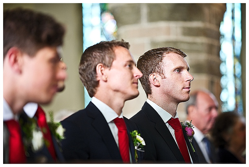Ushers in Devon church wedding