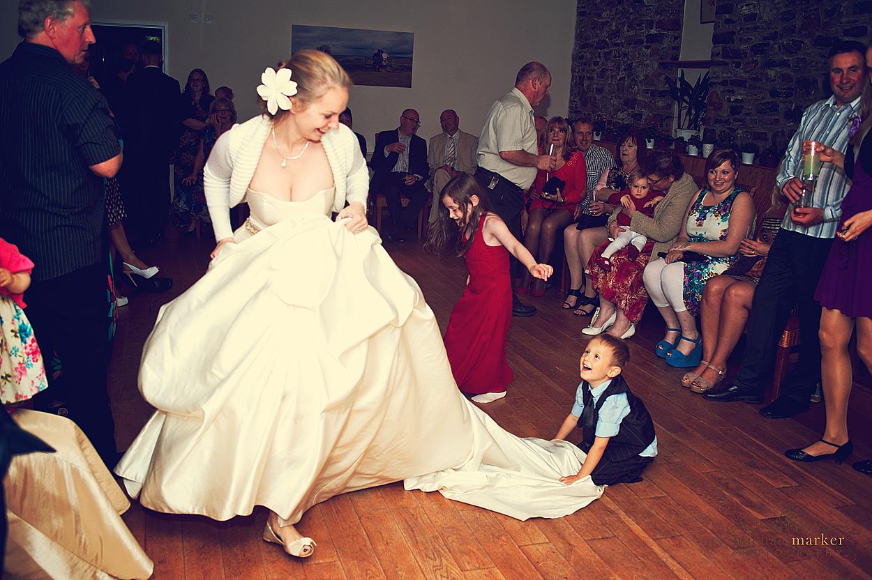 Bride-enjoying-Devon-wedding