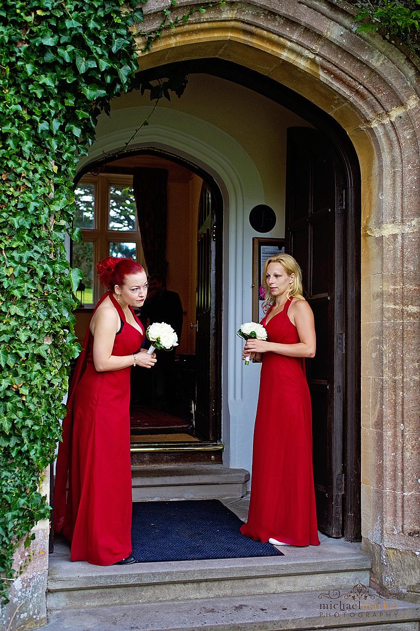 Bridesmaids-waiting-in-Devon