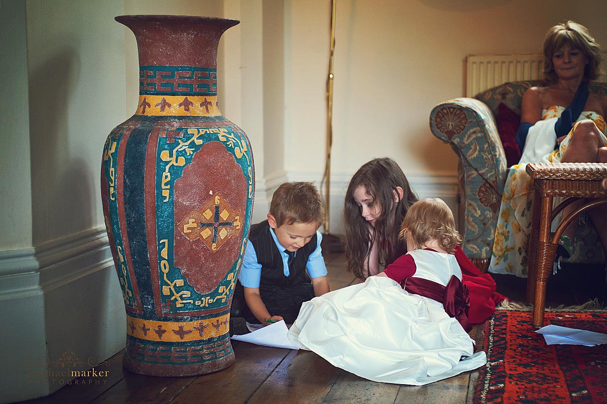 Children-playing-at-Devon-wedding
