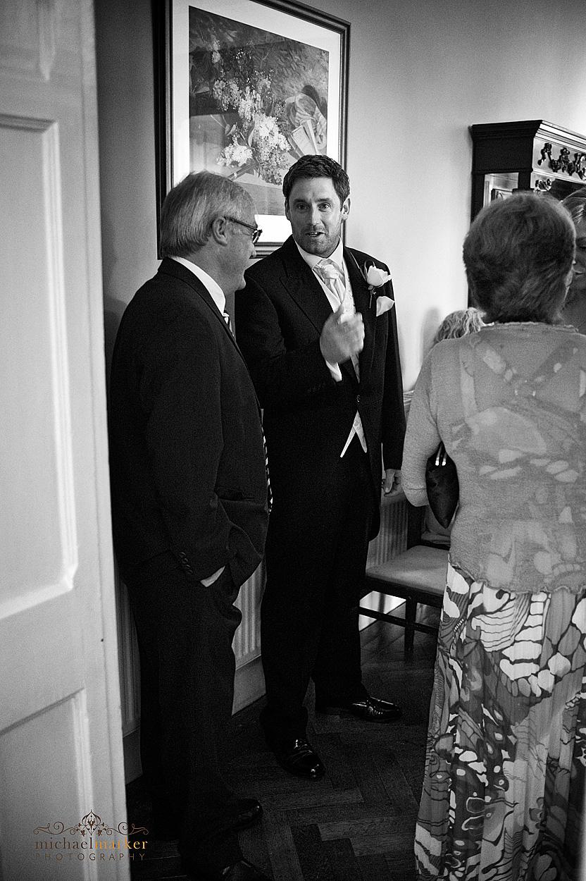 Groom-waiting-at-Devon-wedding