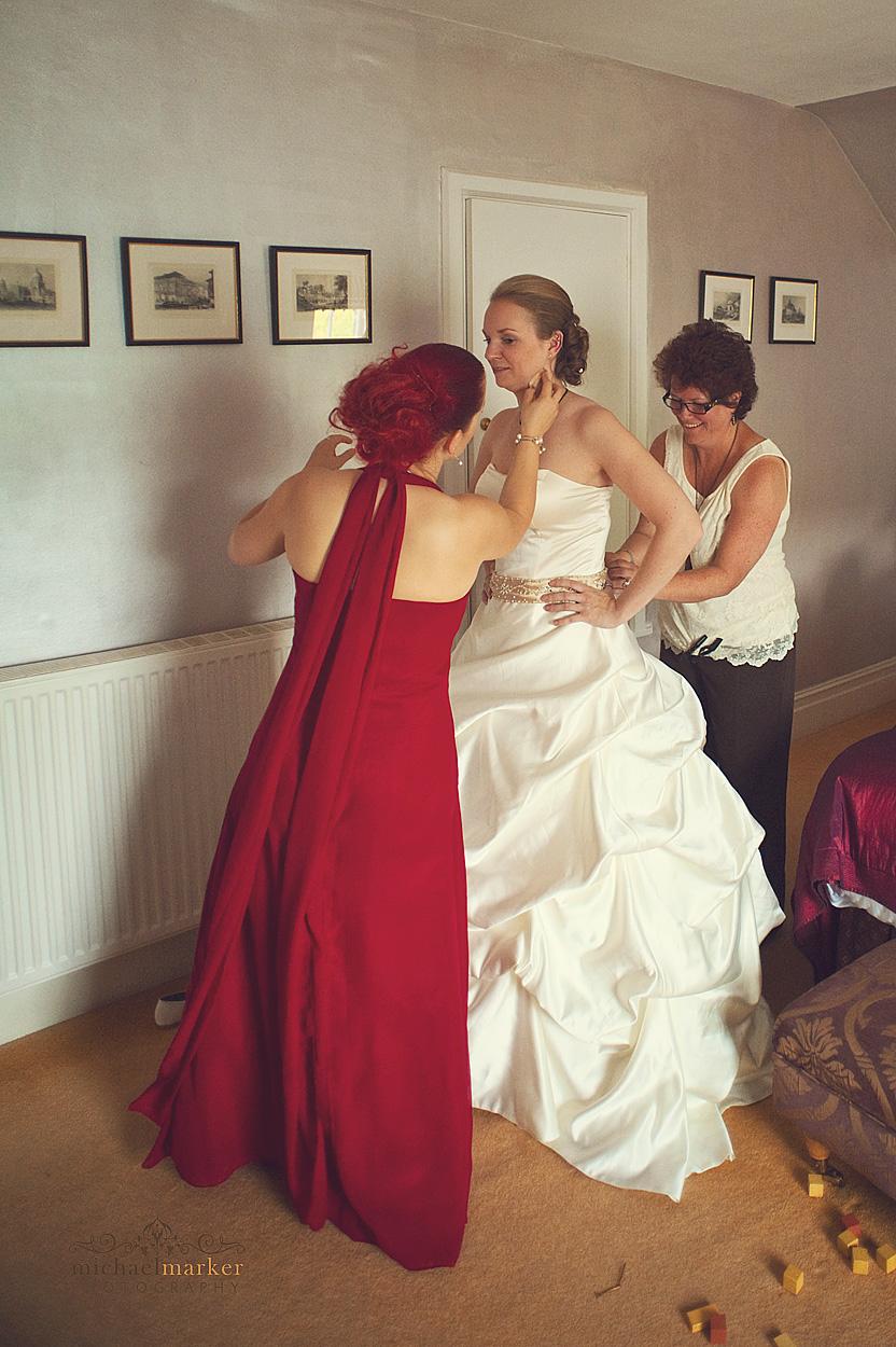 Nortcotte-bride-getting-dressed