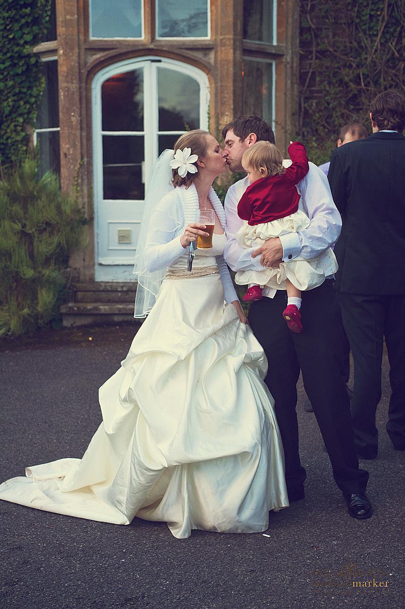 Wedding-day-kiss-in-Devon