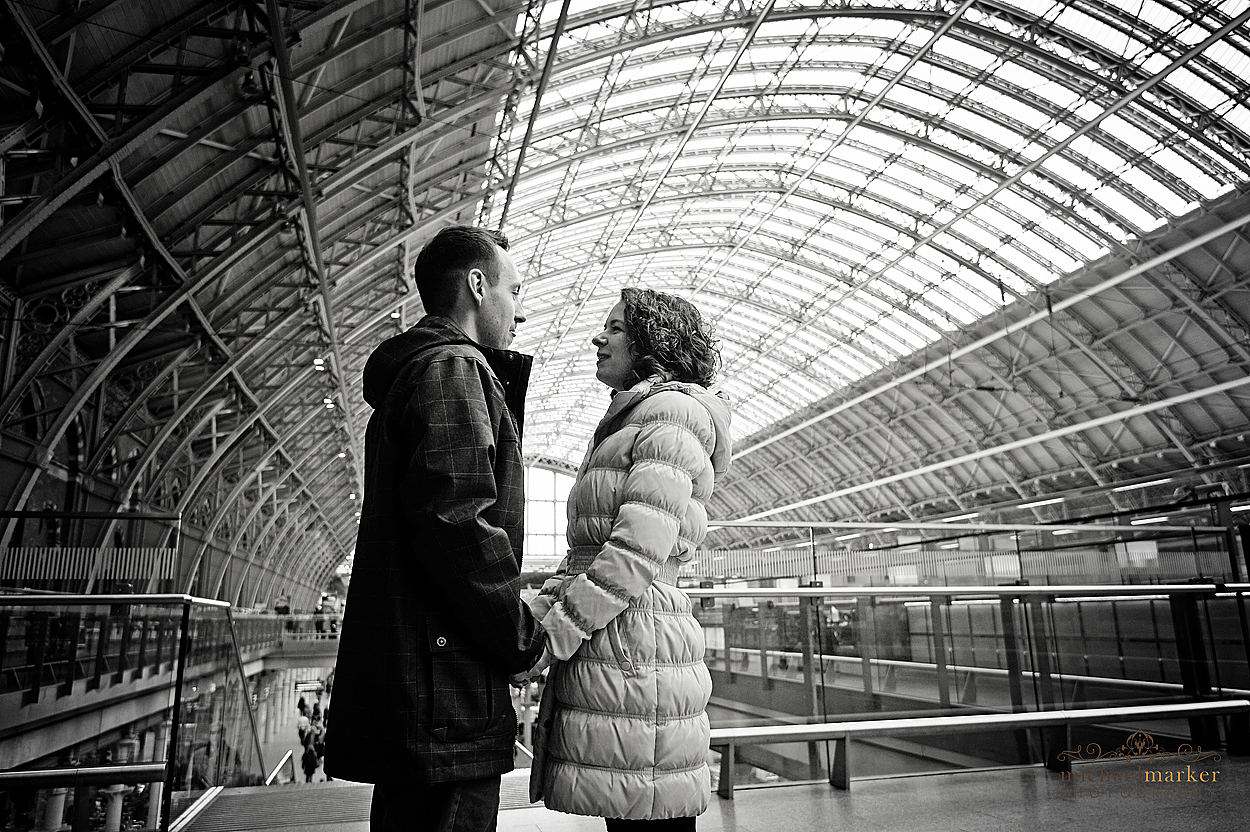 Railway-station-London-engagement-photograph