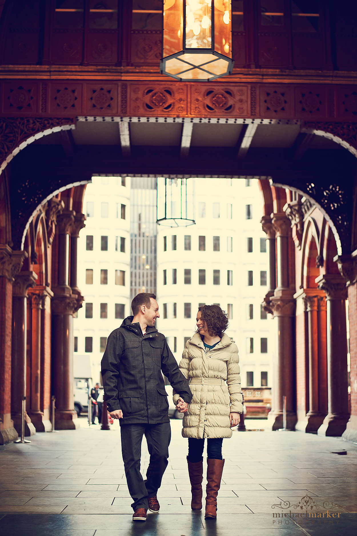 St Pancras station engagement photography in London