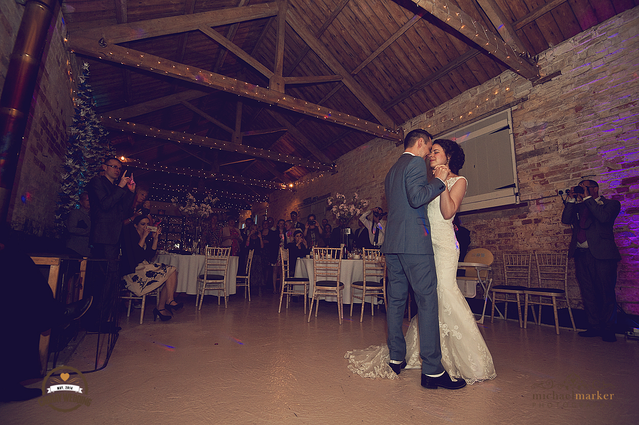 Couple's first dance at Cadhay Manor wedding in Devon