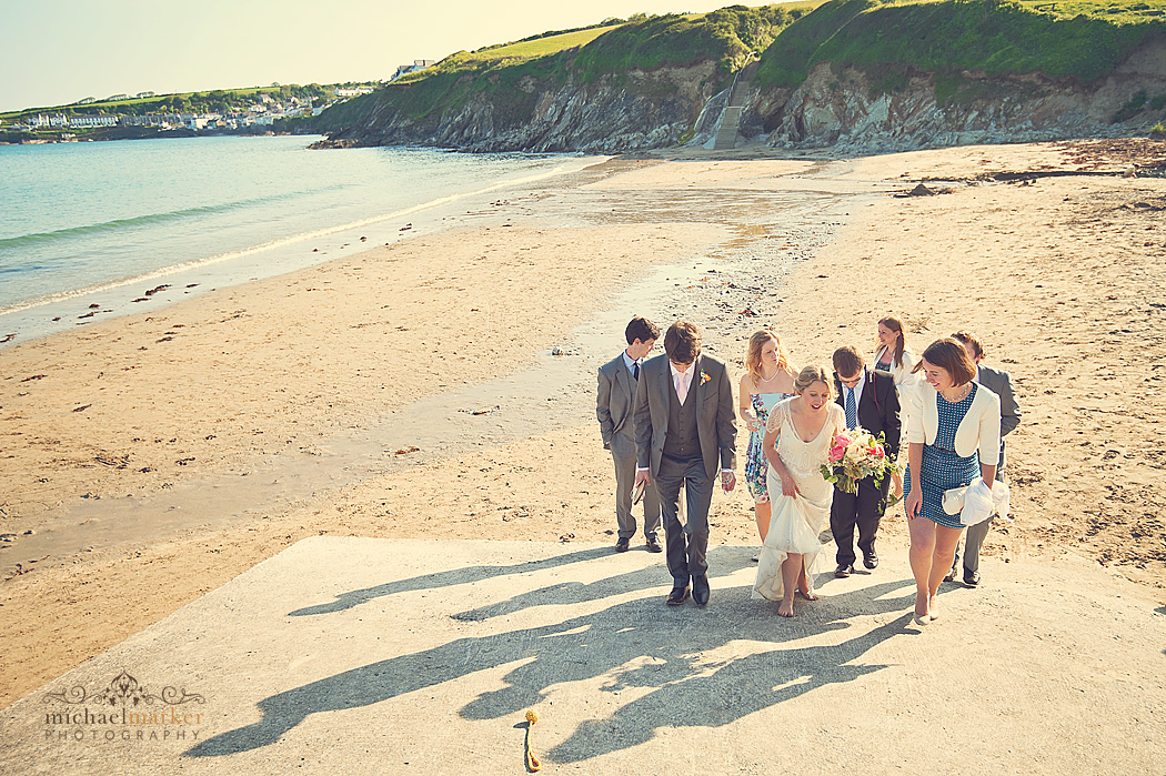 Cornish beach wedding